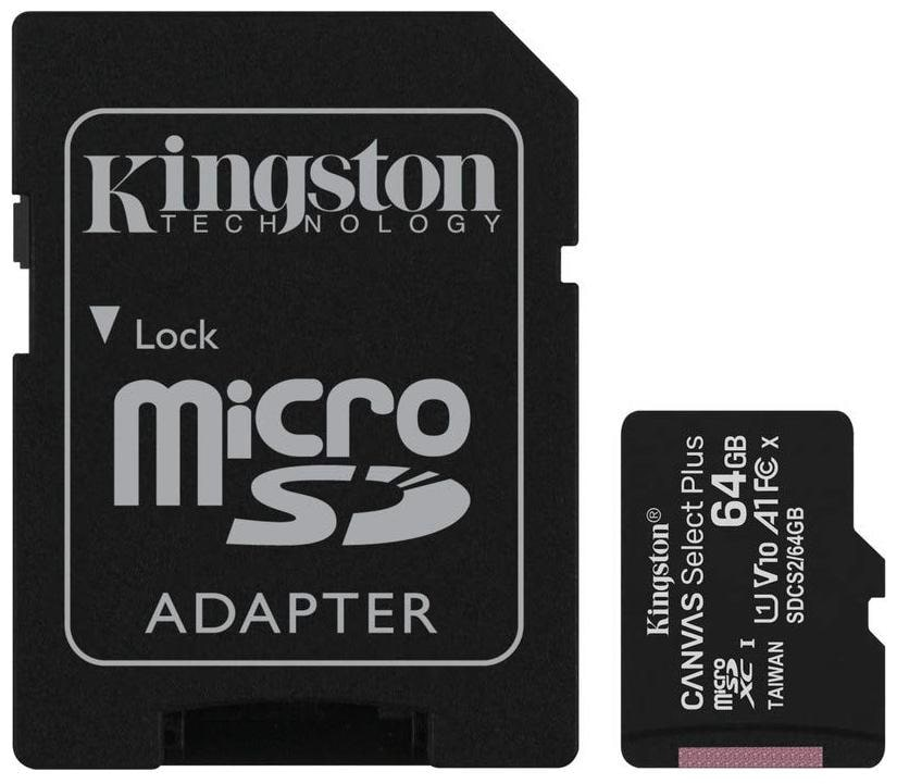 Kingston 64  GB Class 10   UHS I MicroSD Memory Card   Pack of 1