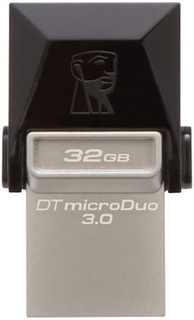 Kingston Data Traveler 3.0 MicroDuo USB 3.0 32 GB USB OTG Pen Drive (Black & Silver)