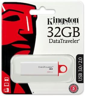 Kingston DTIG4 USB 3.0 32 GB Utility Pen Drive (White & Red)