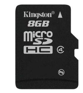 Kingston MicroSDHC 8 GB Class 4 Memory Card