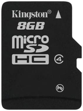Kingston MicroSDHC 8 GB Class 4 Memory Card