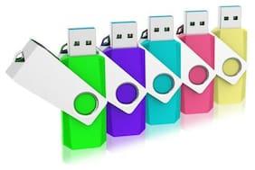 Kootion 5pcs 32GB USB2.0 Rotating USB Flash Drive U Disk Storage Pendrives Thumb