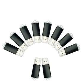 Kootion Black 10Pack 2GB USB 2.0 Flash Drives Rectangle Style Memory Storage Pen