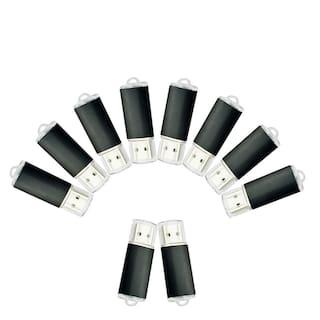 Kootion Black 10Pack 2GB USB 2.0 Flash Drives Rectangle Style Memory Storage Pen