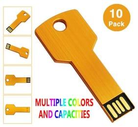 LOT 10 Key Model 4GB USB 2.0 Flash Drives Memory Stick Thumb Pen Drives Computer