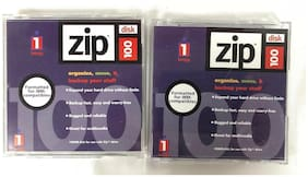 Lot Of 2 Iomega Zip 100 Disk IBM Formatted Single Disk With Hard Case