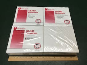 """Lot of 4 Boxes Vtg Micro Universal 5.25"""" DS/HD Floppy Diskettes ~ NOS"""