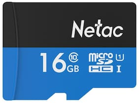Netac P500 Class 10 16G Micro SDHC TF Flash Memory Card Data Storage UHS-1 High Speed Up to 80MB/s