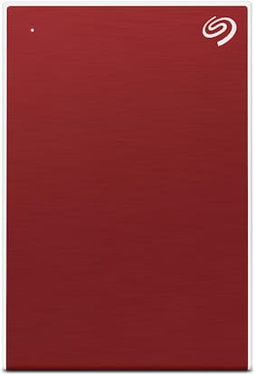 New Seagate 1TB Backup Plus Slim Portable External Hard Drive with free 2 month Adobe CC Photography Plan -Red