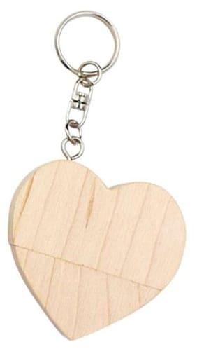 Pankreeti Wooden Heart USB 2.0 32 GB (White)