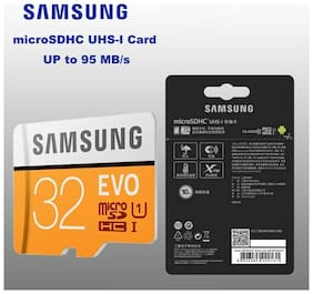 Samsung 32GB EVO Grade 1 MicroSDHC/SDXC Memory Card R95 ASIAN VERSION