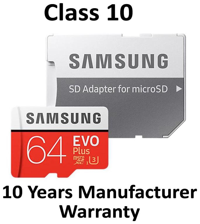 Samsung 64  GB evo plus 100 mbps MicroSDXC Memory Card Class 10 with  SD Adapter   MB MC64GA  by Parv Sales