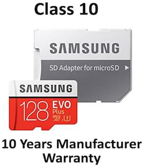 Samsung EVO Plus MicroSDXC 128GB 100 MB/s Class 10 Memory Card With SD Adapter
