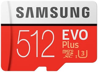 Samsung Evo Plus 512GB Class 10 MicroSDXC Memory Card with Adapter (MB-MC512GA/IN)