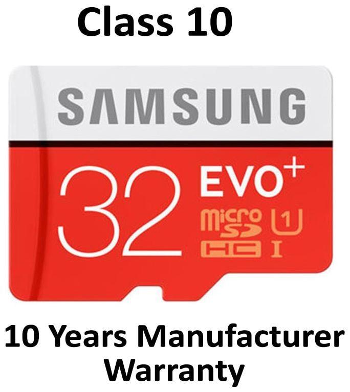 Samsung EVO Plus microSDHC UHS I 32  GB Class 10 Memory Card With SD Adapter