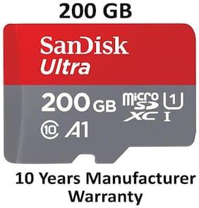 SanDisk 200GB Class 10 microSDXC Memory Card(SDSQUAR-200G-GN6MA)