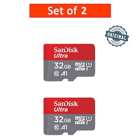 SanDisk 32GB Class 10 microSDXC Memory Card (SDSQUAR-032G-GN6MN) - Pack of 2