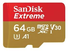 SanDisk 64 GB Class 10 MicroSDXC Memory Card ( Pack of 1 )