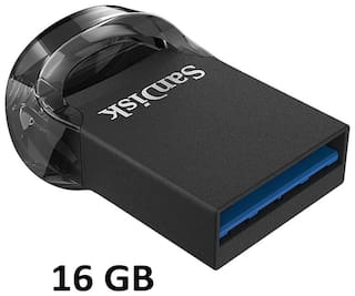 SanDisk Ultrafit 16 GB USB 3.1 Pendrive ( Black )