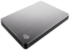 Seagate 2TB Backup Plus Slim USB 3.0 Portable 6.35 cm (2.5 Inch) External Hard Drive for PC and Mac with 2 Months Free Adobe Creative Cloud Photography Plan - Silver