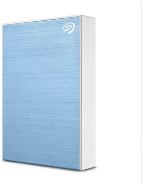 Seagate One Touch 5 TB USB 3.0 External HDD - Light Blue