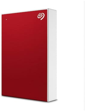 Seagate One Touch 5 TB USB 3.0 External HDD - Red