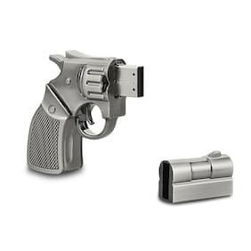 Silver Metal Gun Model 32GB USB 2.0 Flash Memory Stick Pen Flash Drive U Disk
