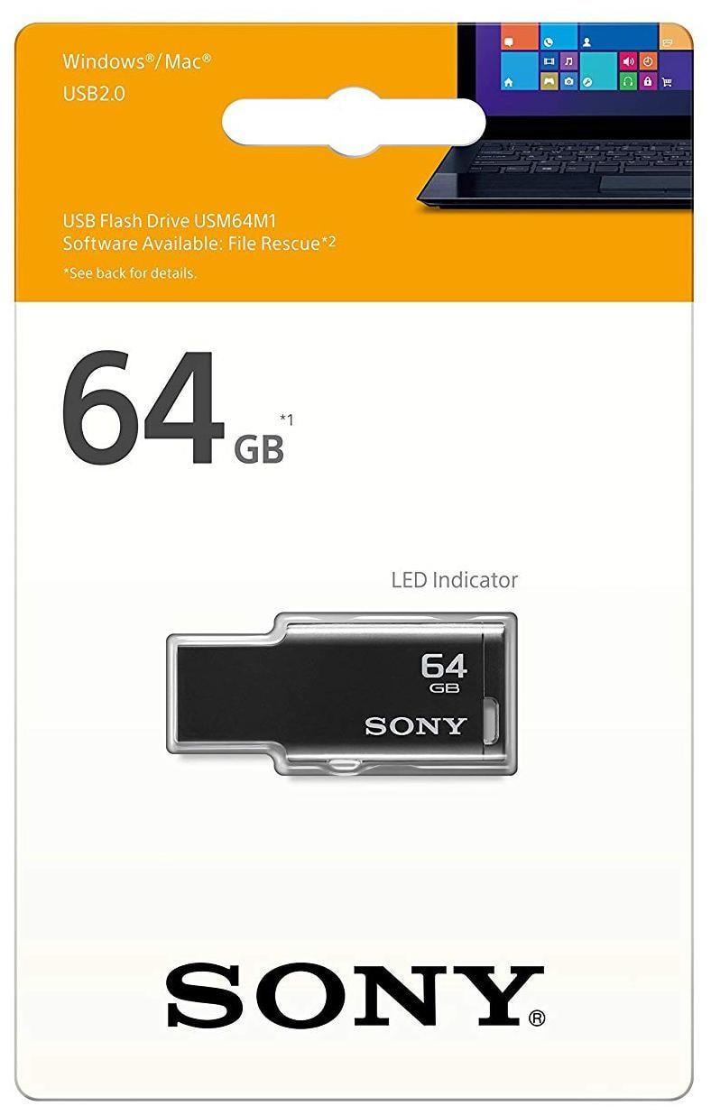 Sony Micro Vault Tiny USB 2.0 64GB Pen Drive (Black)