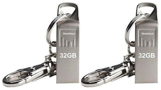 Strontium Ammo 32GB USB 2.0 Pen Drive Pack of 2(Silver)