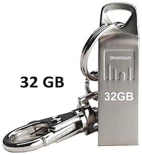 Strontium 32 GB USB 2.0 Pendrive ( Silver )