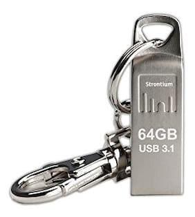 Strontium 64 GB USB 3.1 Pendrive ( Silver )