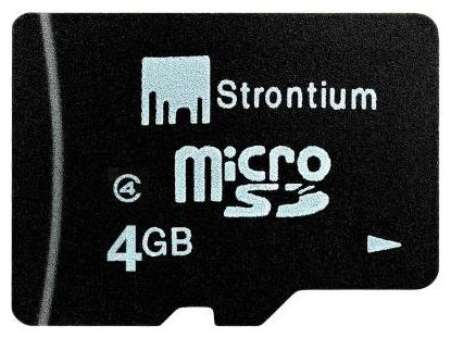 Strontium MicroSD 4  GB Class 4 Memory Card by R S Trade