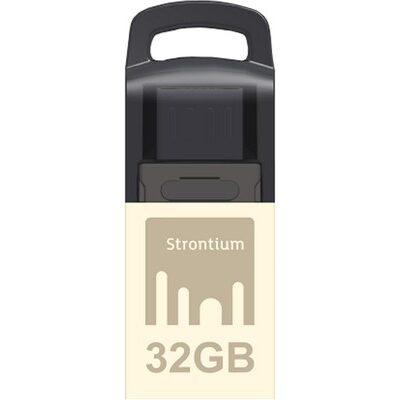 Strontium Nitro 32 GB OTG Pen Drive (Black & Silver)