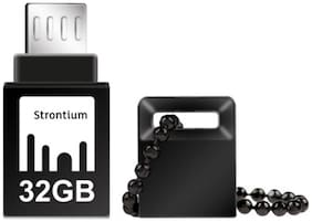 Strontium NITRO ON-THE-GO USB 3.0 32 GB USB OTG Pen Drive (Black)