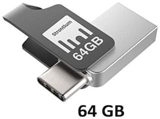 Strontium 64 GB USB 3.0 Pendrive ( Silver )
