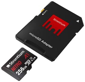Strontium Nitro A1 256GB Micro SDXC Memory Card 100MB/s A1 UHS-I U3 Class 10 with High Speed Adapter (SRN256GTFU3A1A)