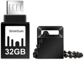 Strontium NITRO ON-THE-GO USB 3.0 32 GB USB OTG Pen Drive (Black)