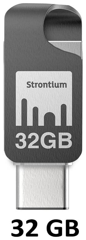 Strontium Nitro Plus 32 GB USB 3.0 Pendrive ( Silver )