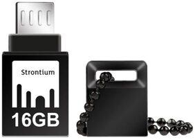 Strontium NITRO ON-THE-GO USB 3.0 16 GB USB OTG Pen Drive (Black)
