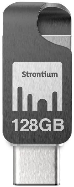 Strontium Nitro Plus 128 GB USB 3.0 Pendrive ( Silver )