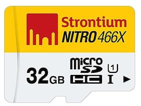 Strontium Nitro 32 GB Class 10 UHS-1 MicroSDHC Memory Card without Adapter