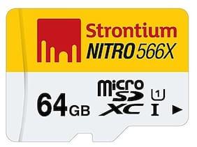 Strontium Nitro 64 GB 85MB/s UHS-1 Class 10 MicroSDXC Memory Card (SRN64GTFU1R)