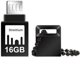 Strontium NITRO ON-THE-GO USB 3.0 16 GB USB OTG Pen Drive (Black)