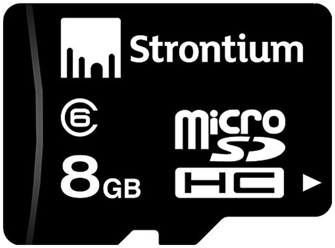 Strontium SR8GTFC6R MicroSDHC 8  GB Class 6 Memory Card by R S Trade