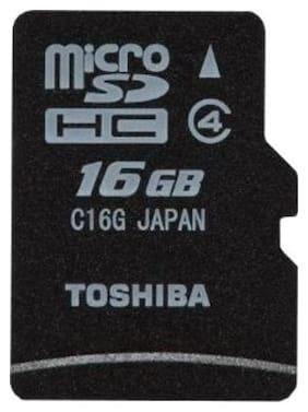 Toshiba MicroSDHC 16 GB Class 4 Memory Card