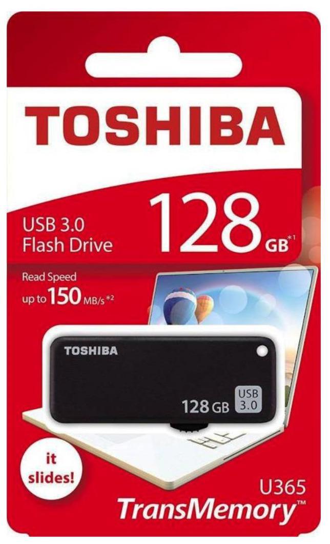 Toshiba TransMemory U365 USB 3.0 8GB Pen Drive (Black)