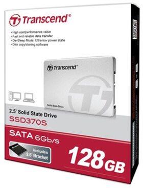 Transcend TS128GSSD370 128 GB Portable External Hard Drive (White)