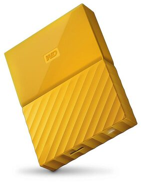 WD 4 TB Portable External Hard Disk (Yellow)