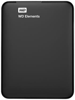 WD Elements 2 TB Hard Disk Drive External Hard Disk USB 3.0 - Black