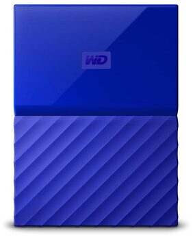 WD My Passport 1 Tb External Hard Disk ( Blue )